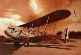 John Baeder - Curtiss R4C-1