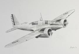 John Baeder - Curtiss A-18 Shrike II