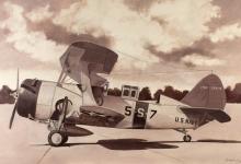 John Baeder - Curtiss SBC-4