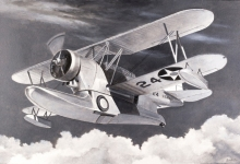 John Baeder - Grumann J2F-3 Duck
