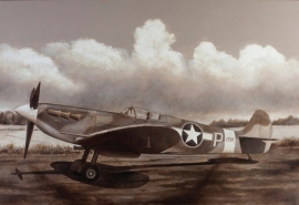 John Baeder - Supermarine Spitfire MkVb
